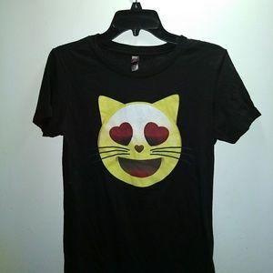 Tops - CAT EMOJI T-SHIRT - Kitty Love Cute Tee Shirt